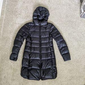 Uniqlo ultra puffer down winter black hooded coat